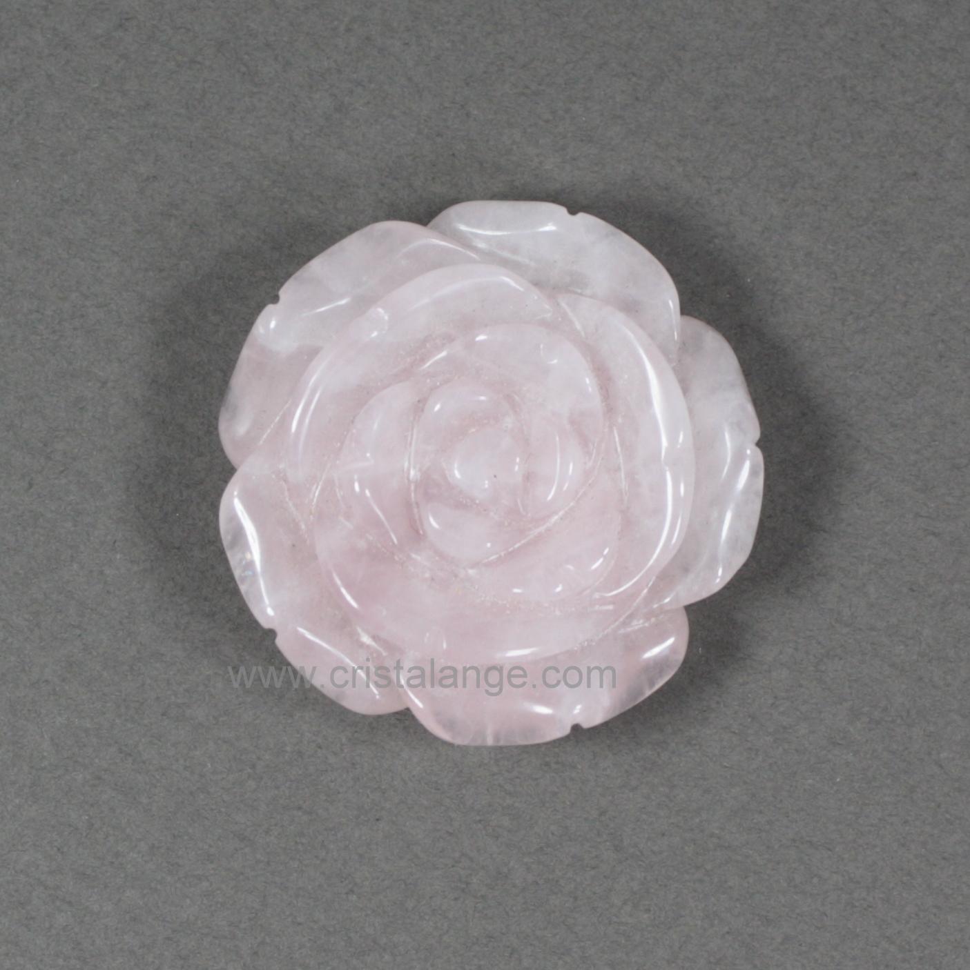 pendentif fleur de quartz rose beverlym bijoux pierres cristalange bijoux lithotherapie. Black Bedroom Furniture Sets. Home Design Ideas