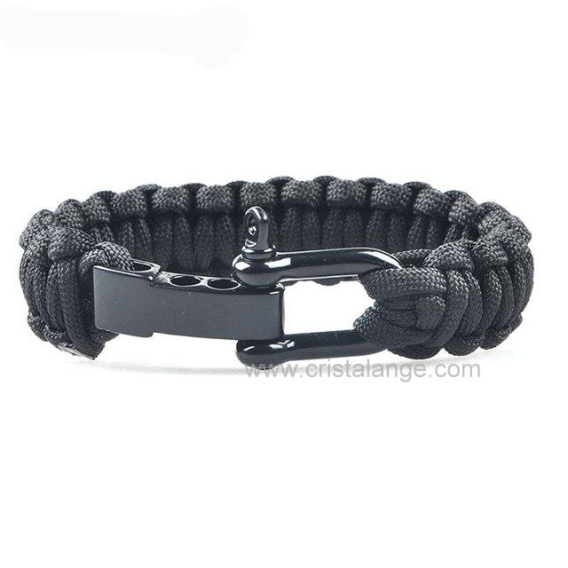 bracelet homme tress nylon militaire bijoux hommes mode pas chers en nylon noir ou de couleur. Black Bedroom Furniture Sets. Home Design Ideas