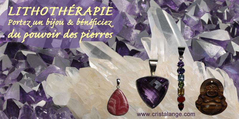 Bijoux en pierres gemmes pour lithothérapie et utilisez le pouvoir des pierres
