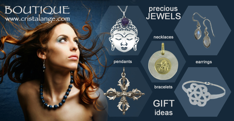 Find gift ideas on cristalange e-shop, jewelry with semi precious stones, sacred geometry