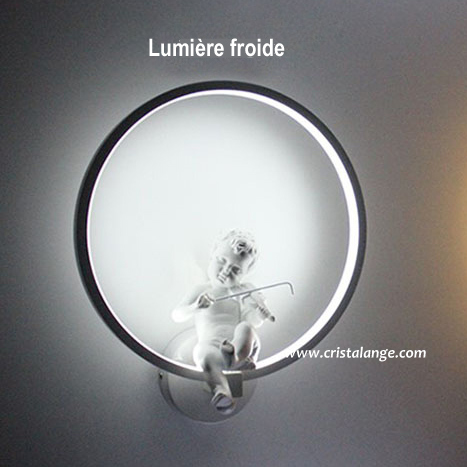 lampe led ange musicien assis dans cercle spiritualit et yoga bijoux lithoth rapie anges et. Black Bedroom Furniture Sets. Home Design Ideas