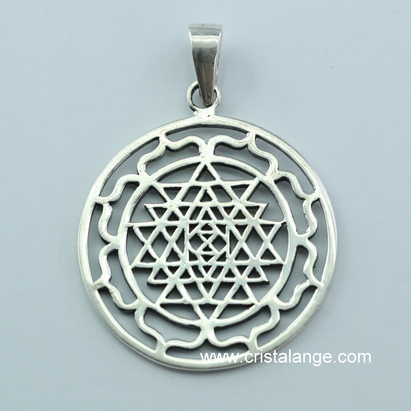 Shri yantra silver pendant tantrism and concentration 160630 p t shri yantra silver pendant tantrism and concentration mozeypictures Choice Image