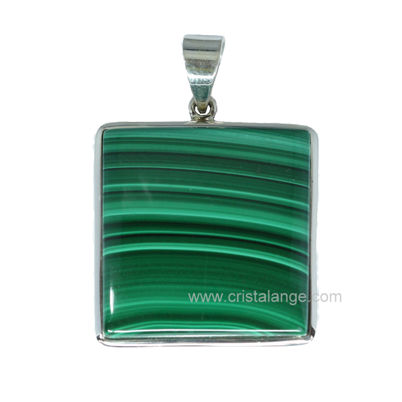 pendentif malachite pierre verte et lithoth rapie bijoux cristalange avec pierres fines. Black Bedroom Furniture Sets. Home Design Ideas