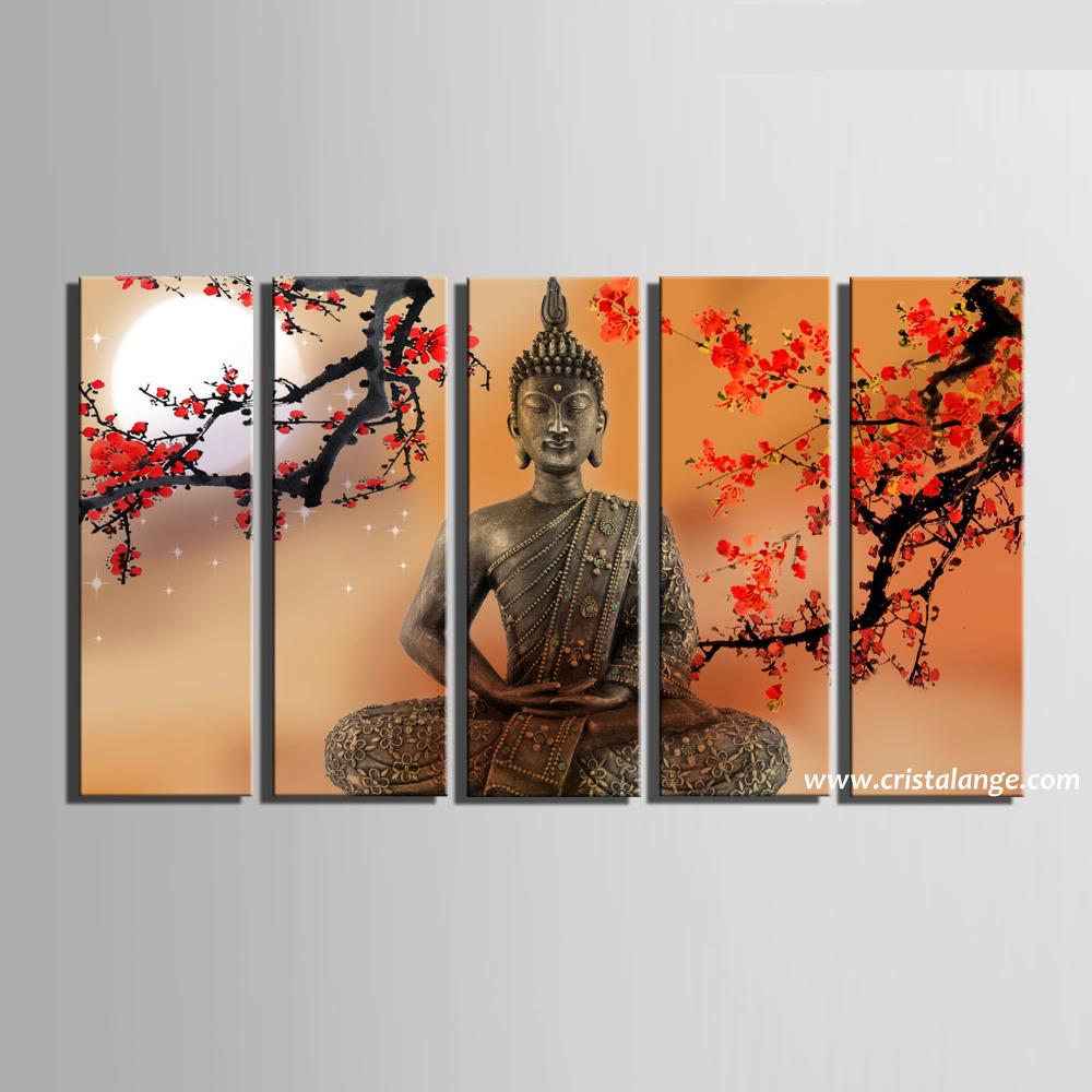 Tableau Decoration Bouddha Et Cerisiers En Fleurs Spiritualite Et