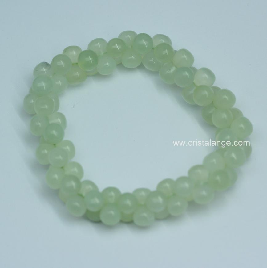 Découvrez le pouvoir des pierres en lithotherapie avec ce bracelet en jade  de Chine, pierre