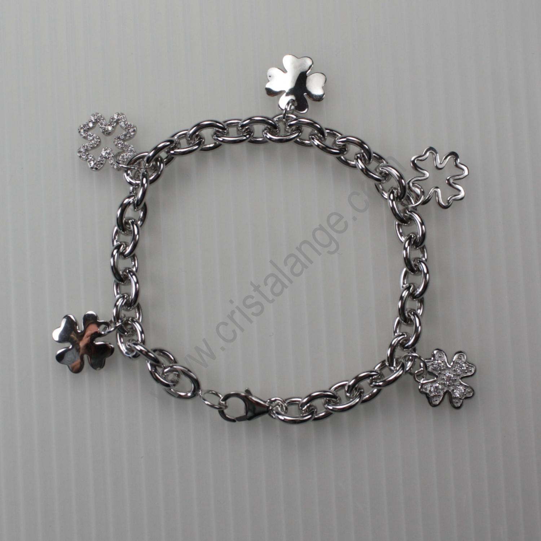 bracelet argent porte bonheur bijoux mode bracelet mode tr fles 4 feuilles. Black Bedroom Furniture Sets. Home Design Ideas