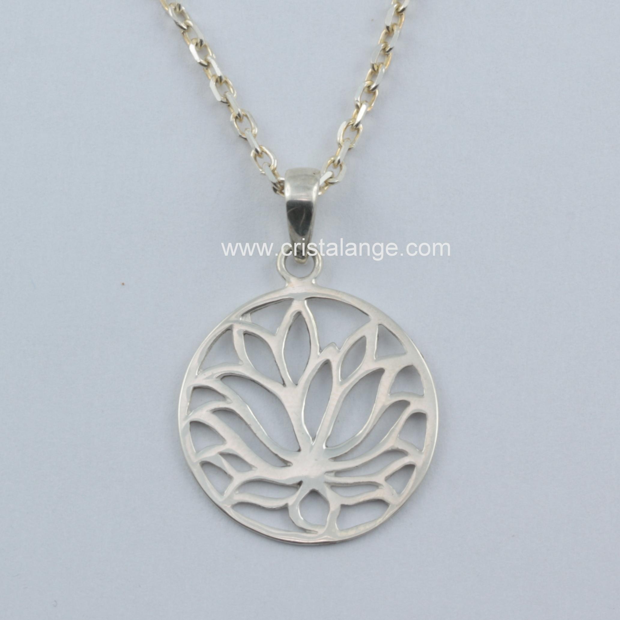 Collier fleur de lotus en argent - Fleur de lotus symbole ...