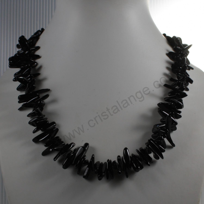 Collier en tourmaline noire